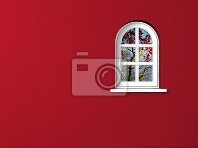 Obraz Bogenfenster dunkelrot