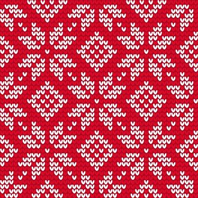 Obraz Boże Narodzenie bez szwu deseń z dzianiny