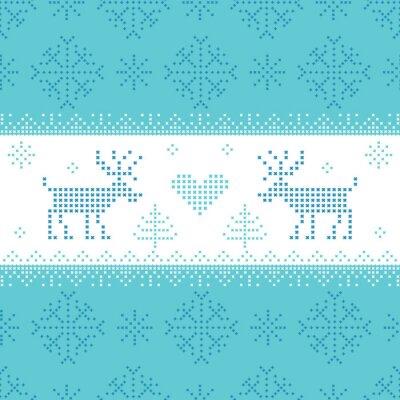 Obraz Boże Narodzenie Scandinavian Card - za zaproszenie, tapety