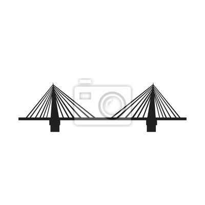 Obraz bridge icon black on white background