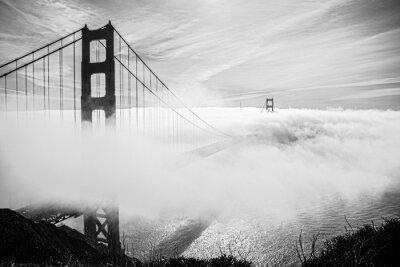 Obraz bridge in the fog