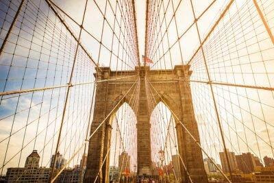 Obraz Brooklyn Bridge i Manhattan Skyline