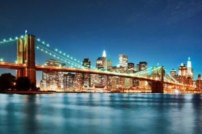 Obraz Brooklyn most w nocy