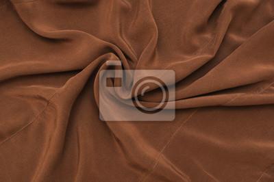 Brown faktura tkaniny jedwabne