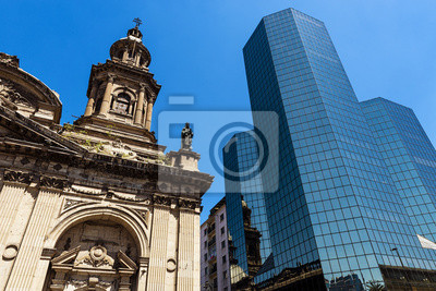 Budynki w Santiago de Chile, Chile, 2013