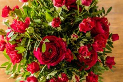 Obraz bukiet czerwonych róż