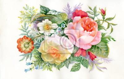 Bukiet kolorowe kwiaty