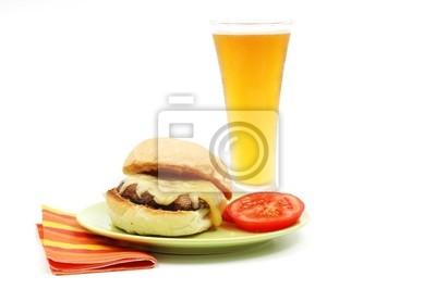 burger grzyb portabello z piwem