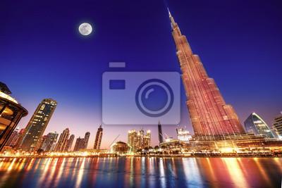 Obraz Burj Khalifa nocny krajobraz