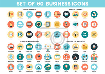 Obraz Business icons set for business