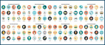 Obraz Business icons set for business.