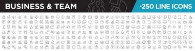 Obraz Business & team icons line
