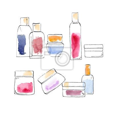 butelki akwarela