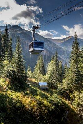 Obraz Cable car in Kasprowy Wierch peak in Tatra mountains, Poland.