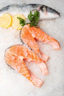 Obraz Cały makreli i łososia