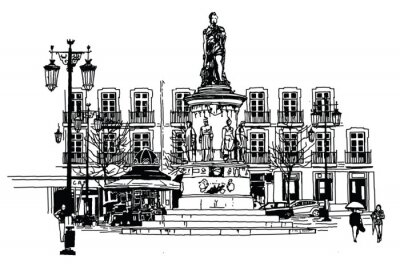 Obraz Camoes placu w Lizbonie