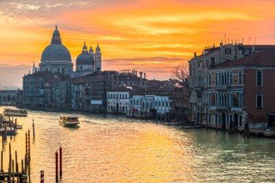 Obraz Canal Grande i Bazylika Santa Maria della Salute, Wenecja, Włochy