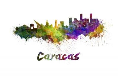 Obraz Caracas skyline w akwarela
