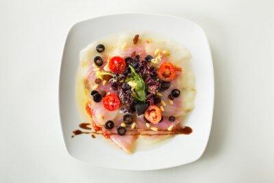 Obraz Carpaccio z dorsza sałatka