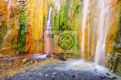 Cascada de Colores, Caldera de Taburiente, La Palma (Hiszpania)