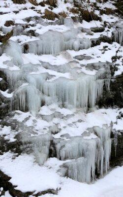 cascade frozen waterfall
