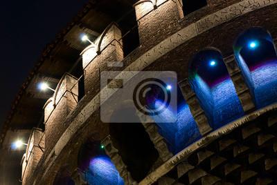 Castello Sforzów merlatura torrione - Sforza Castle Milan