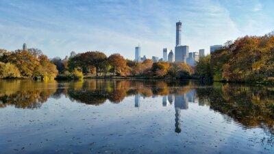 Obraz Central Park krajobraz spadek odbicie w Nowym Jorku