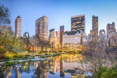 Obraz Central Park w Nowym Jorku na zmierzchu