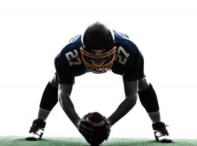 Obraz Centrum amerykański piłkarz człowiek sylwetka