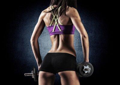 Obraz Centrum sportowy kobieta w treningu