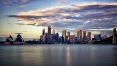 Obraz Centrum Sydney o wschodzie słońca
