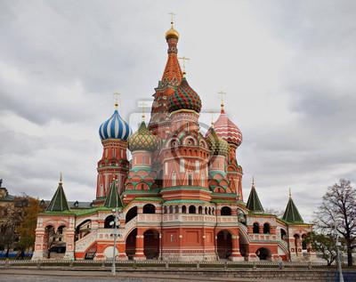 Cerkiew Wasyla Błogosławionego, Moskwa, Rosja.