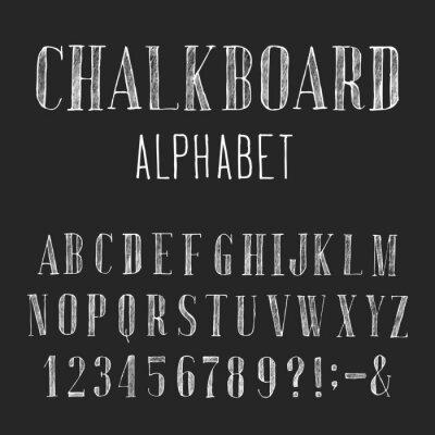 Obraz Chalkboard Alfabet wektor czcionki