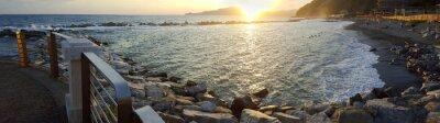 Obraz Chiavari beach panoramic view