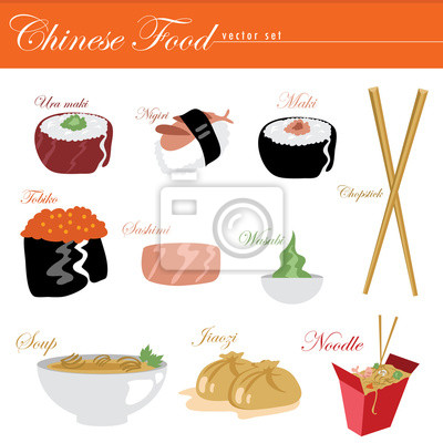 Obraz Chinese Food Wektor Zestaw