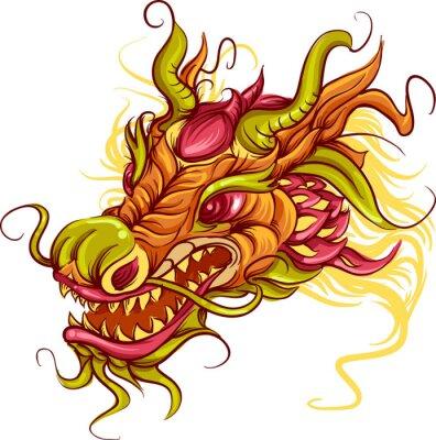 Obraz Chiński smok głowy