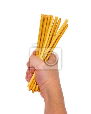 Chleb Słomki w ręku