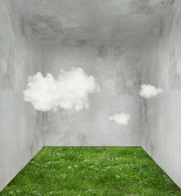 Obraz Chmury i trawy w pokoju