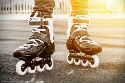 Obraz chodzić na rolki do jazdy na łyżwach
