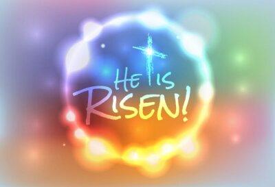 Obraz Christian Wielkanoc Zmartwychwstały Ilustracja