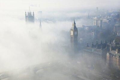 Obraz Ciężka mgła uderza Londyn