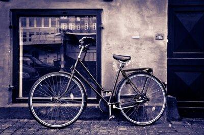 Obraz Classic vintage retro rower miejski w Kopenhaga, Dania