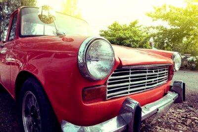 Obraz Close-up kolorowych reflektorów klasyczny samochód