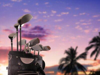 Obraz Close-up z torby golfowej