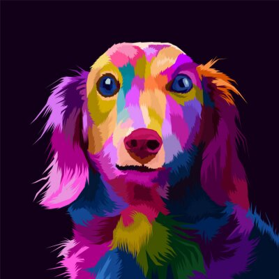 Obraz colorful dog pop art portrait vector