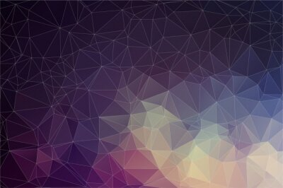 Obraz Colorful geometric background with triangles