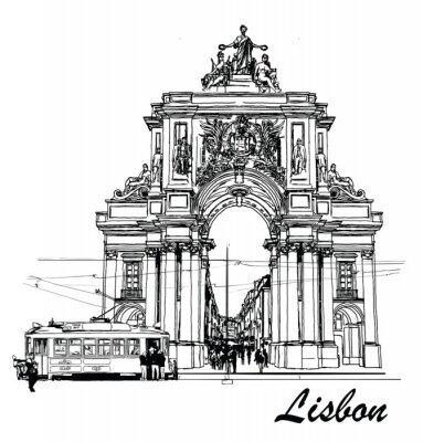 Obraz Commerce Square w Lizbonie
