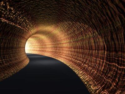 Obraz Conceptual streszczenie tunel drogowy ze światłem na końcu