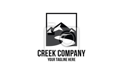Obraz creek and mountain  logo design inspirations