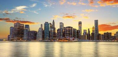 Obraz Crépuscule wyborem Manhattanie w Nowym Jorku.